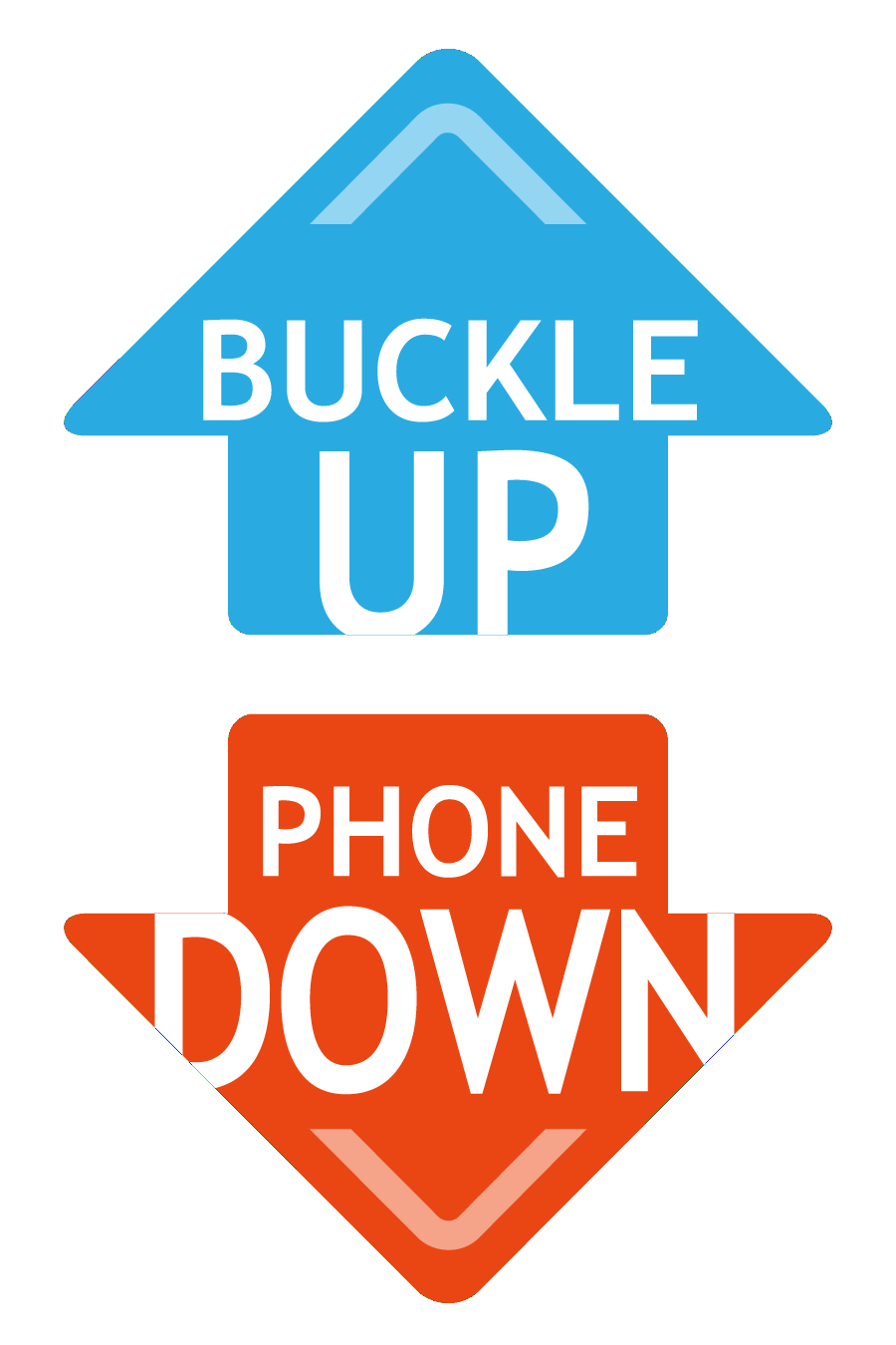 Buckle Up Phone Down logo